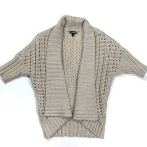 Wool Cardigan Shrug Sweater Tan Express Small